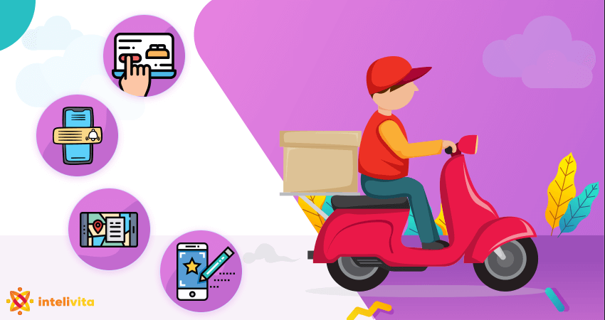 on demand food delivery management- delivery boy app development