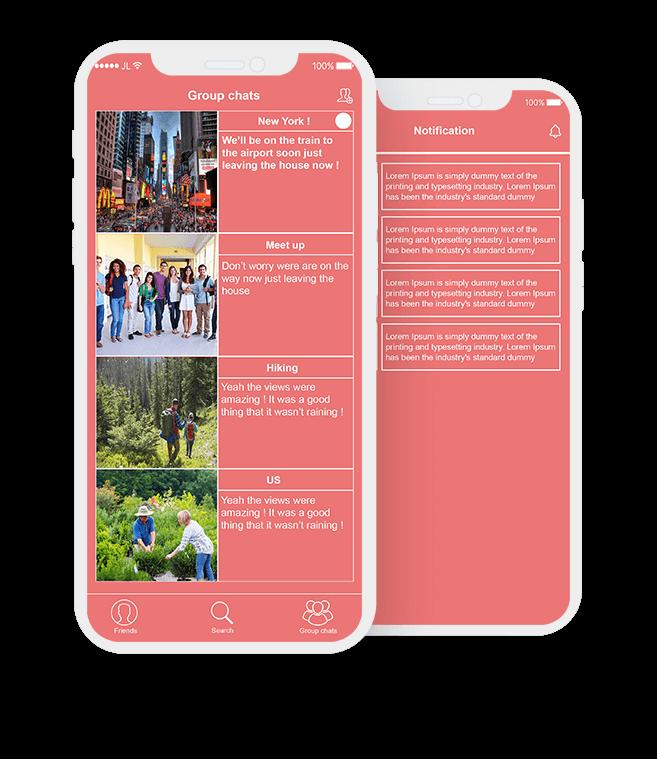 mobile app development social media