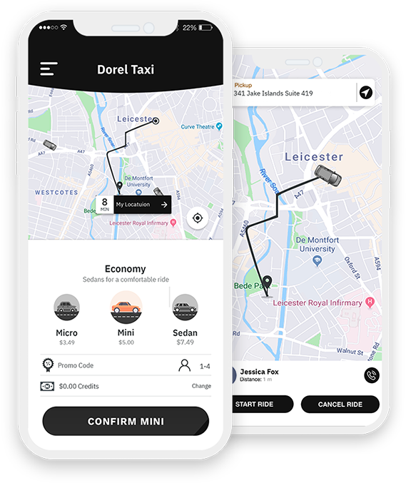 taxi app development services